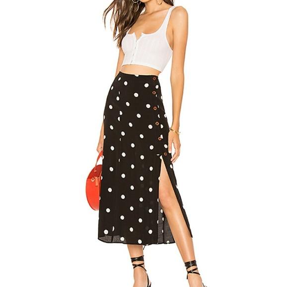 2b6179147a Free People Skirts | Nwt Retro Love Midi Skirt | Poshmark
